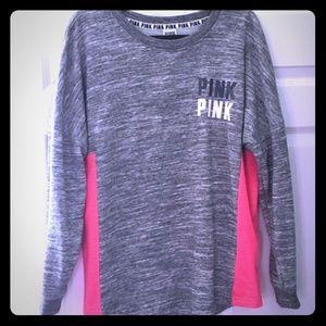 VS Pink campus sweatshirt mesh sides. (Rare)